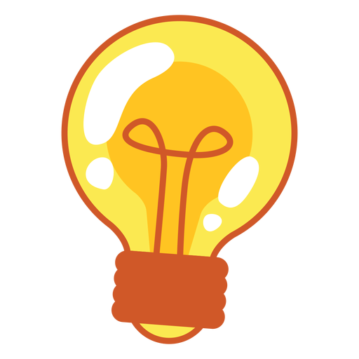 Cartoon png svg vector. Light bulb clip art transparent background
