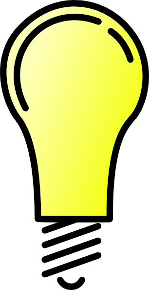 Light bulb clip art transparent background. At clker com vector