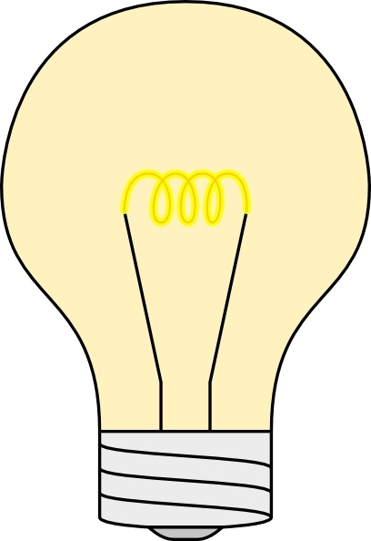 Free in open office. Light bulb clip art vector