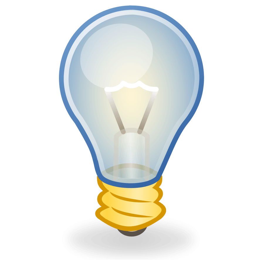 Light bulb clip art vector. Multimedia cliparts zone sea