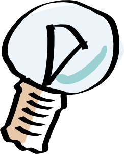 Light bulb clip art vector. Cartoon at clker com