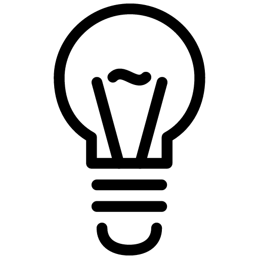 Light bulb icon png. Line iconset iconsmind segr