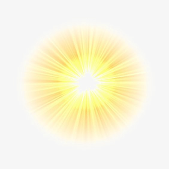 Light clipart. Sunlight glare effect png