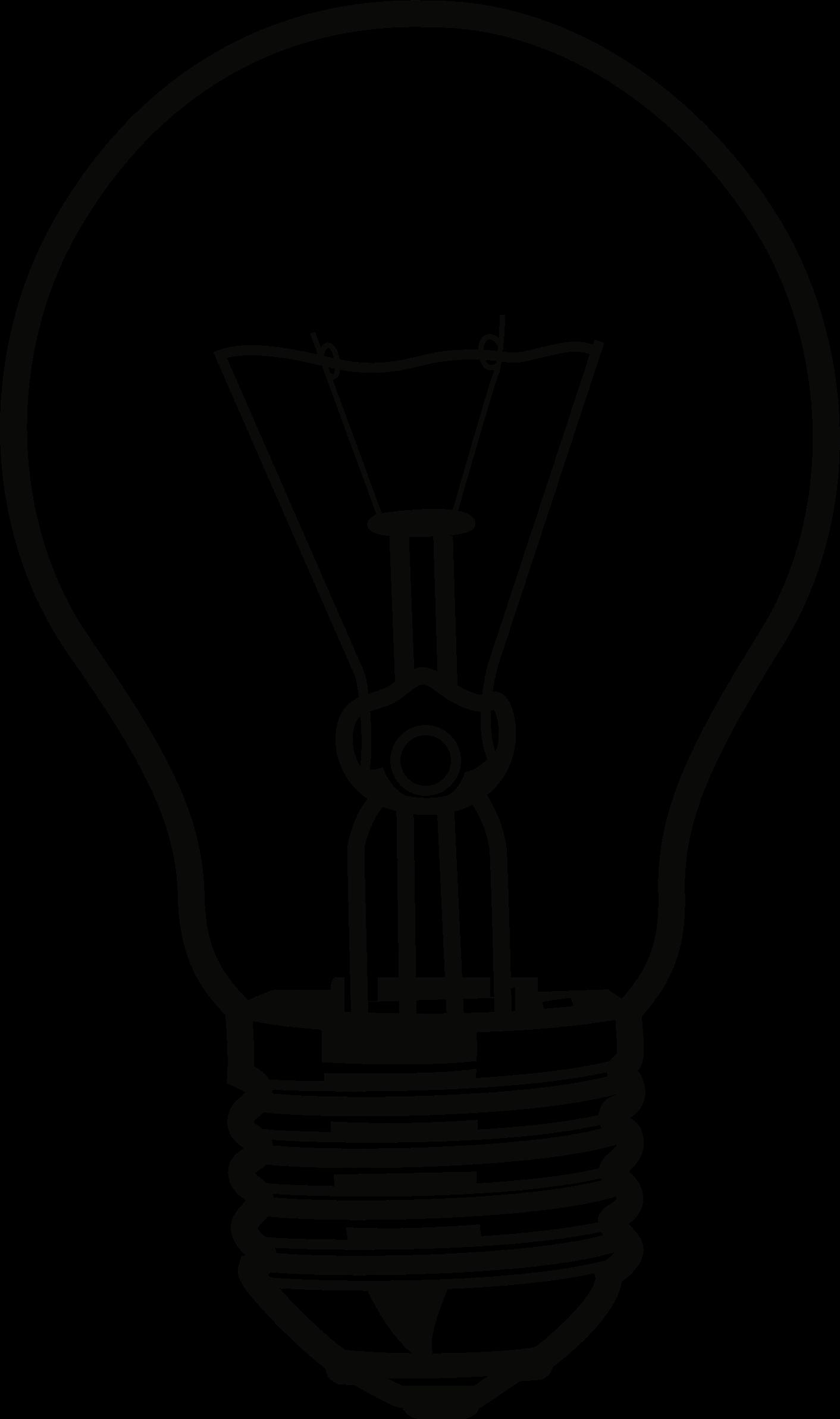Light bulb big image. Lights clipart buld