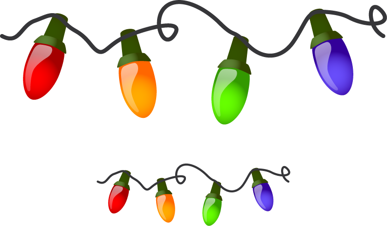 Lights border free images. Peppers clipart christmas