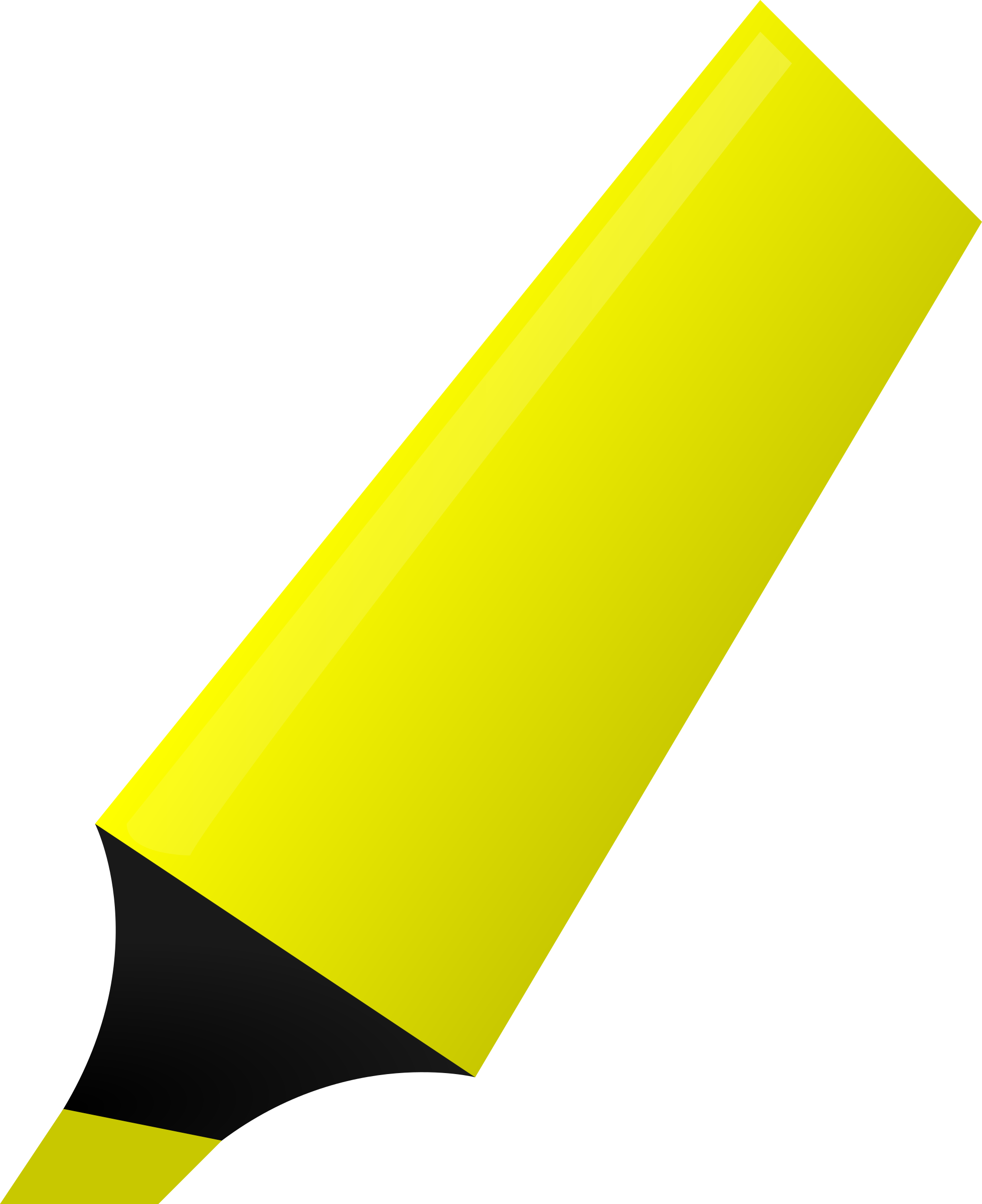 Markers clipart yellow marker.  collection of highlighter