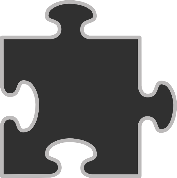 Light clipart solution. Puzzle grey frame clip