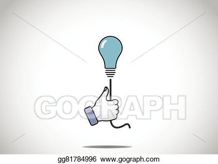 Eps illustration blue idea. Light clipart solution
