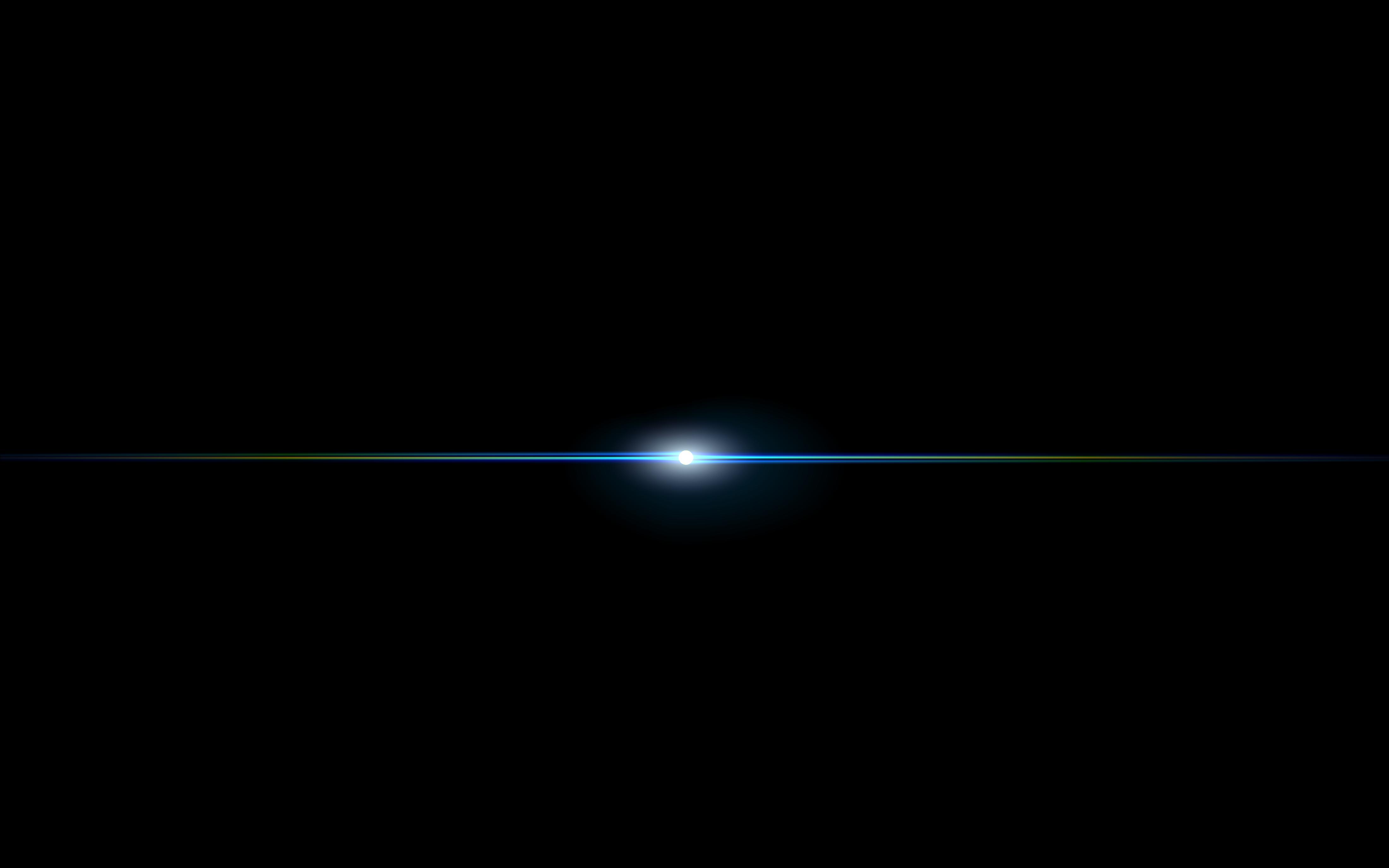 Centered blue lens flare. Light clipart spot