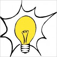 Thinking light bulb clip. Lightbulb clipart