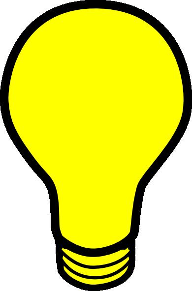 Yellow light bulb clip. Lightbulb clipart