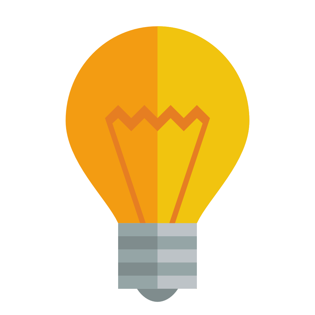 Small flat iconset paomedia. Light bulb icon png
