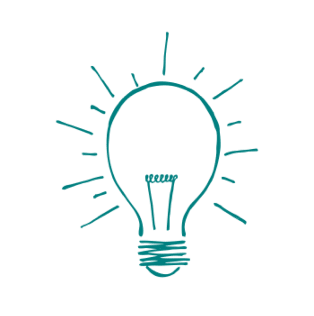 Lightbulb creative problem solving