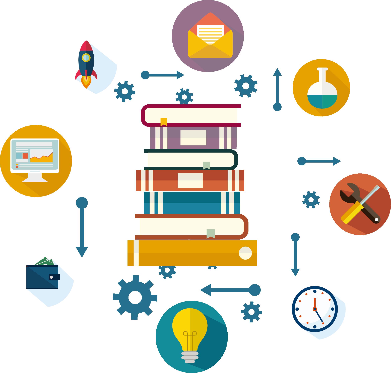 Lightbulb clipart educational technology. Book clip art online