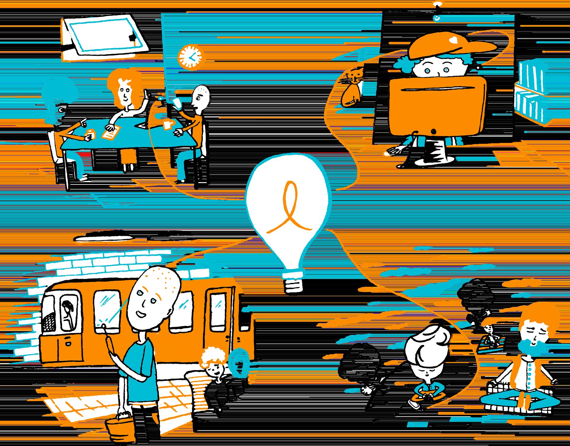 Una gran lamparilla el. Lightbulb clipart educational technology