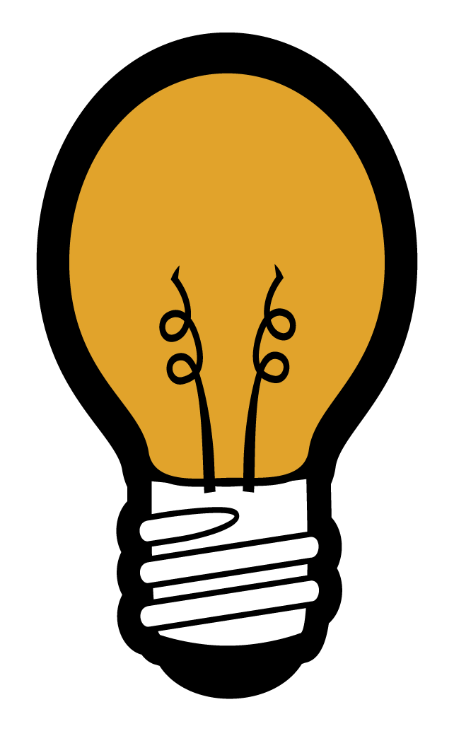 Video conprmetidos . Lightbulb clipart educational technology