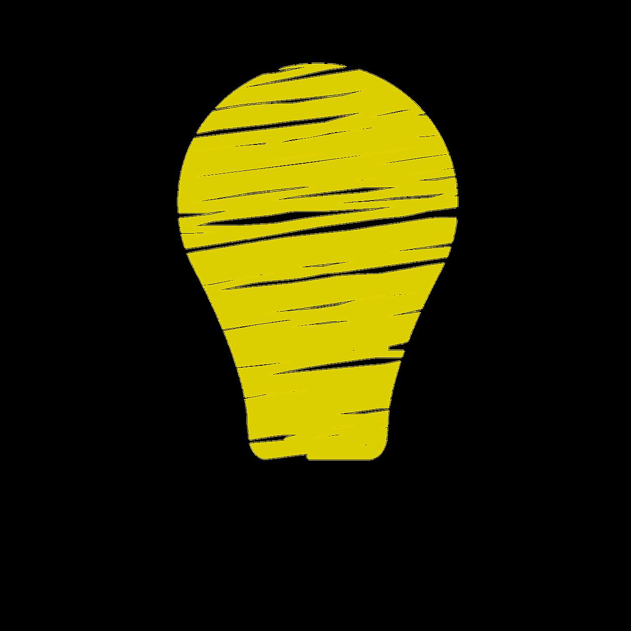 lightbulb clipart face