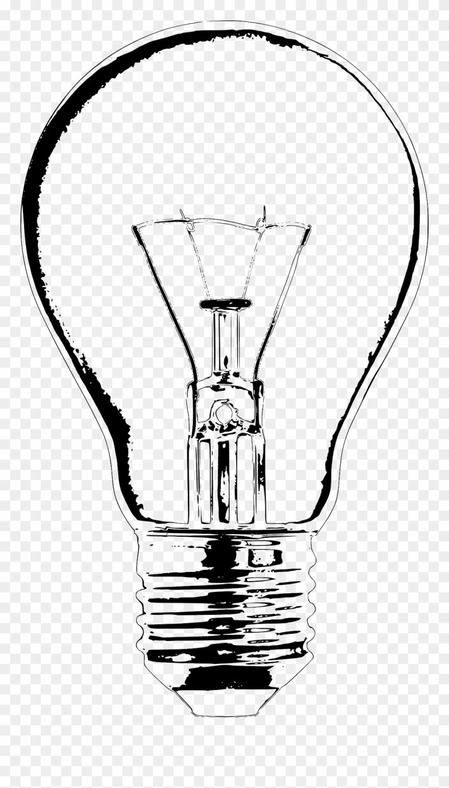Incandescent bulb lamp clip. Lightbulb clipart light fixture