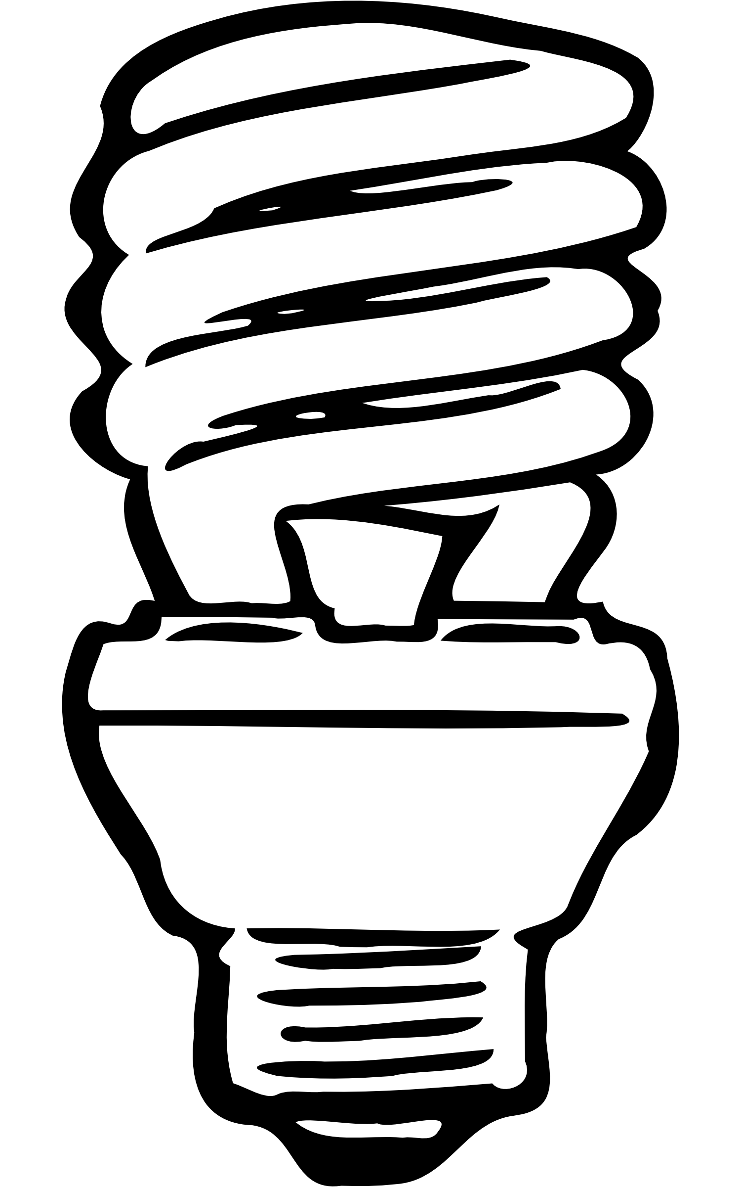 Cfl panda free images. Lightbulb clipart lighted bulb