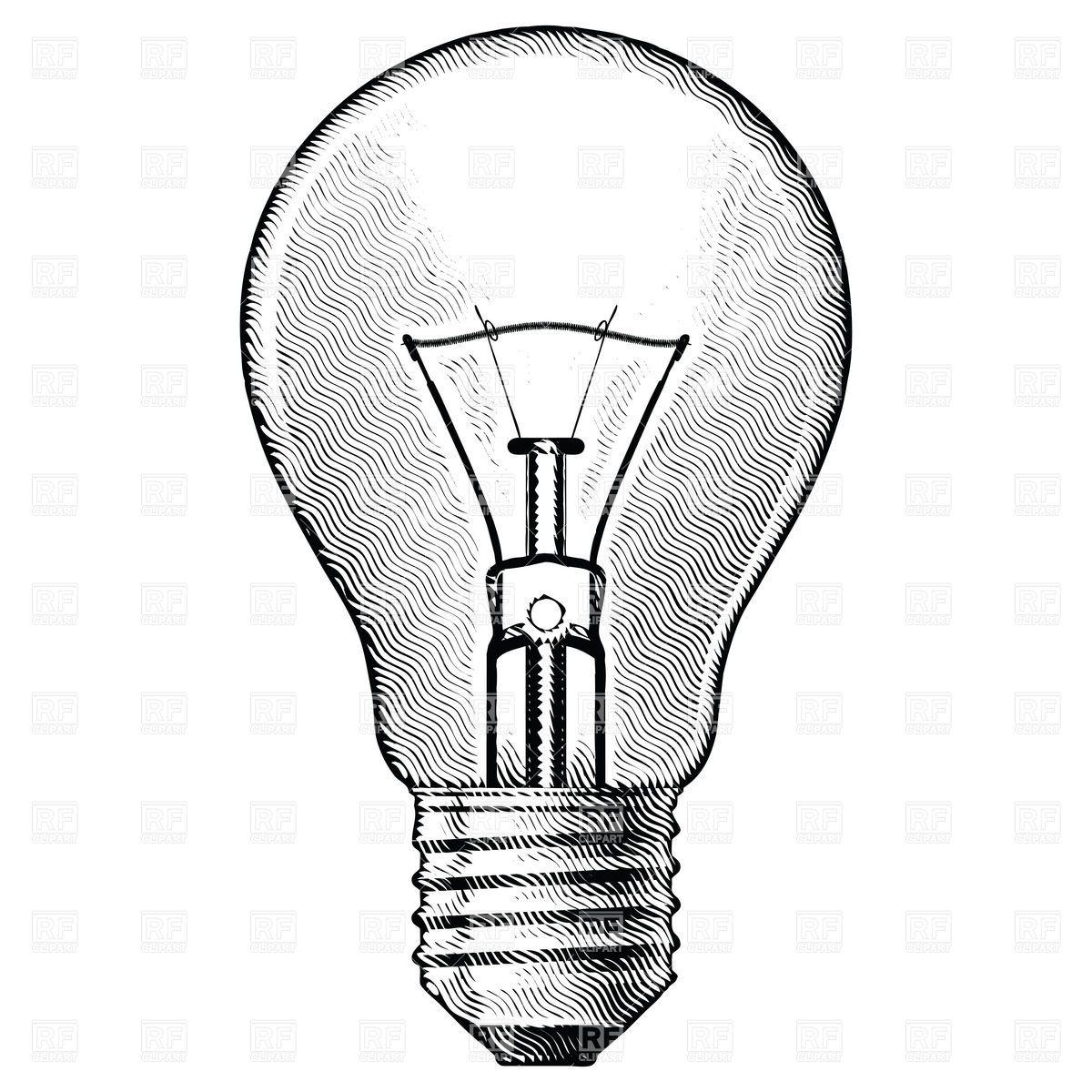 Lightbulb clipart old lightbulb. Sketch google search tattoo