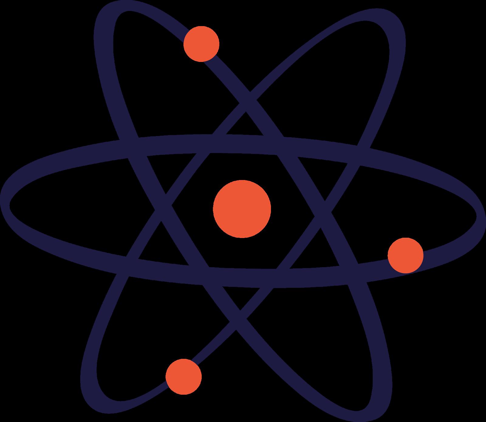 Atom clipart atomic model. Symbol clip art transprent
