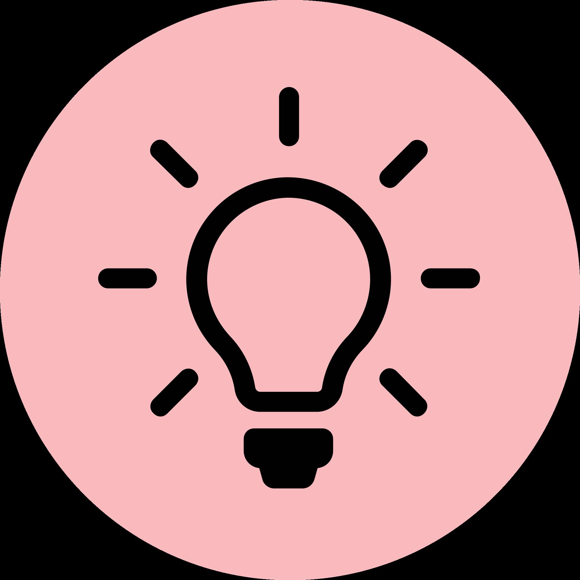 Lightbulb clipart pink. File light bulb icon