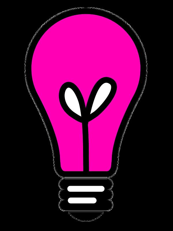 Lightbulb clipart pink. Free clip art graphics