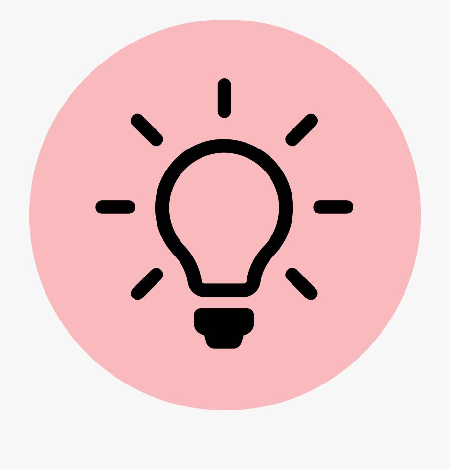 Lightbulb clipart pink. Light bulb icon red