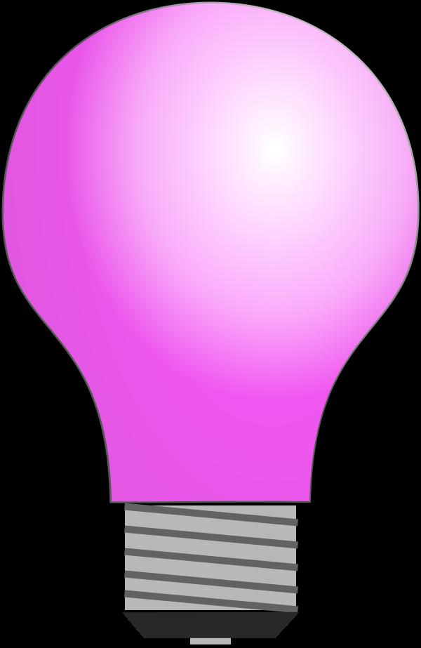 Light bulb clip art. Lightbulb clipart pink