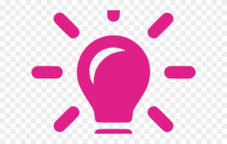Light bulb png transparent. Lightbulb clipart pink