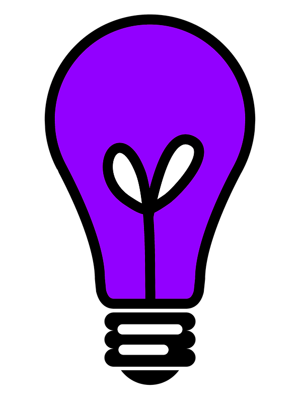 Lightbulb clipart purple. Free clip art graphics