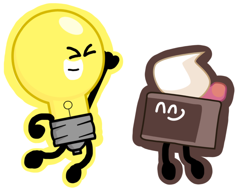 Lightbulb clipart realization. These two peeps who