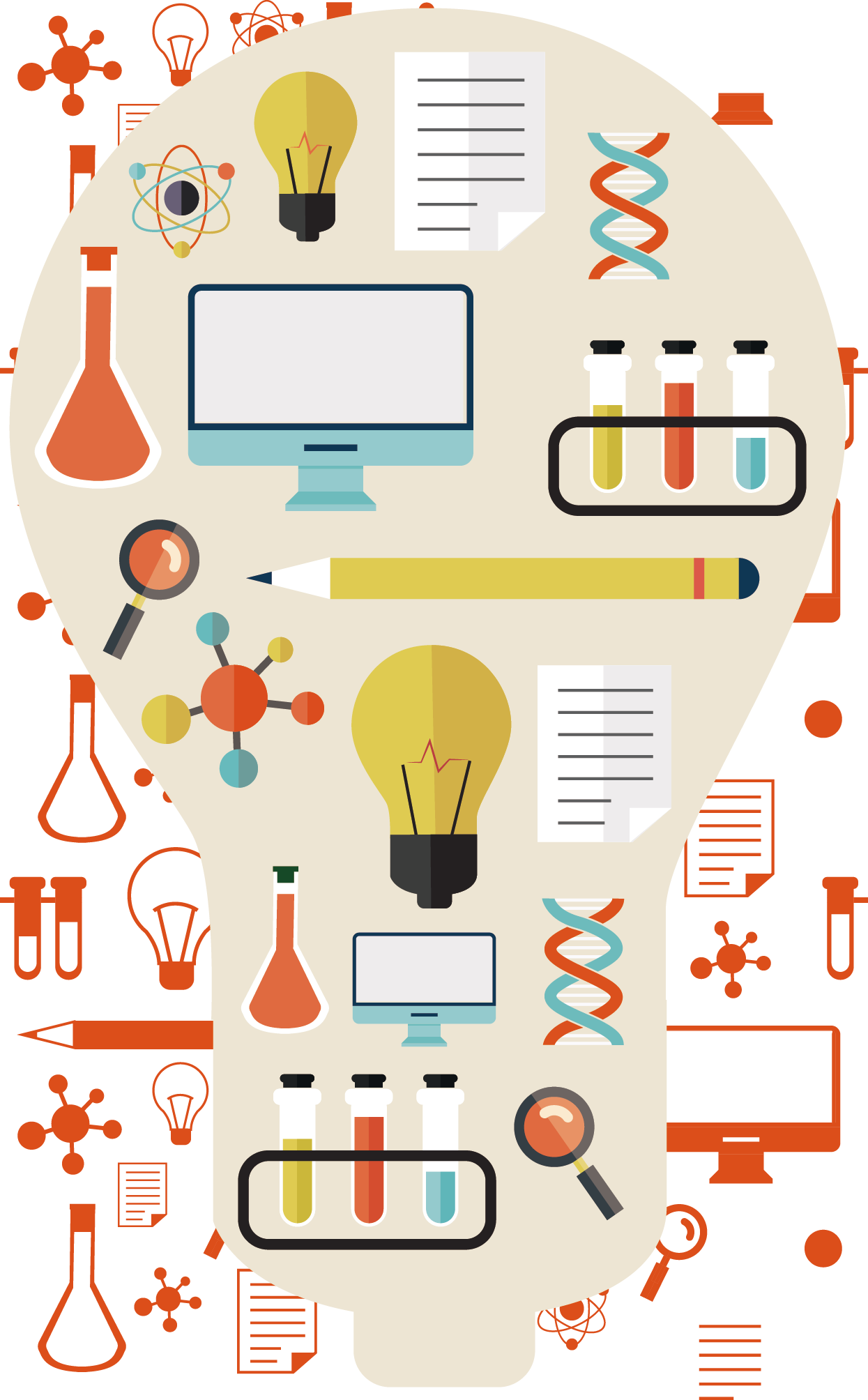 Incandescent light bulb icon. Lightbulb clipart science thing