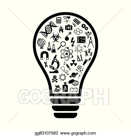 Lightbulb clipart science. Clip art vector light