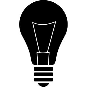 Lightbulb clipart silhouette. Light bulb cliparts of