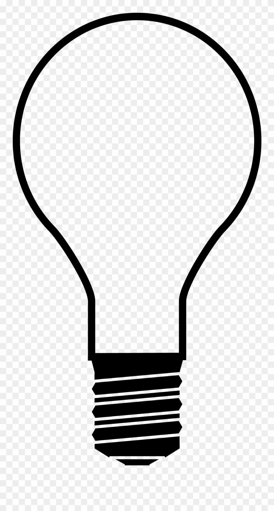 Christmas light bulb transparent. Lightbulb clipart silhouette