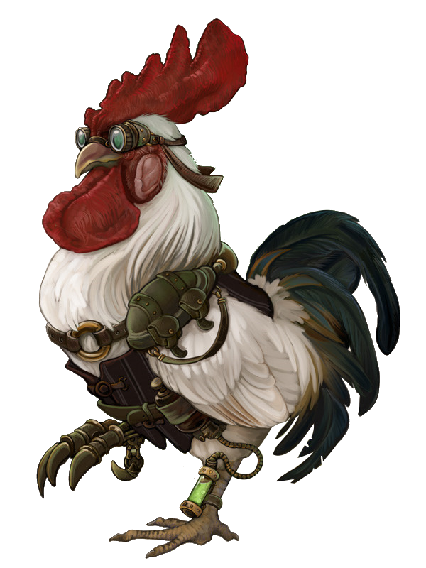 Steampunk clipart lightbulb. City rooster illustration cock