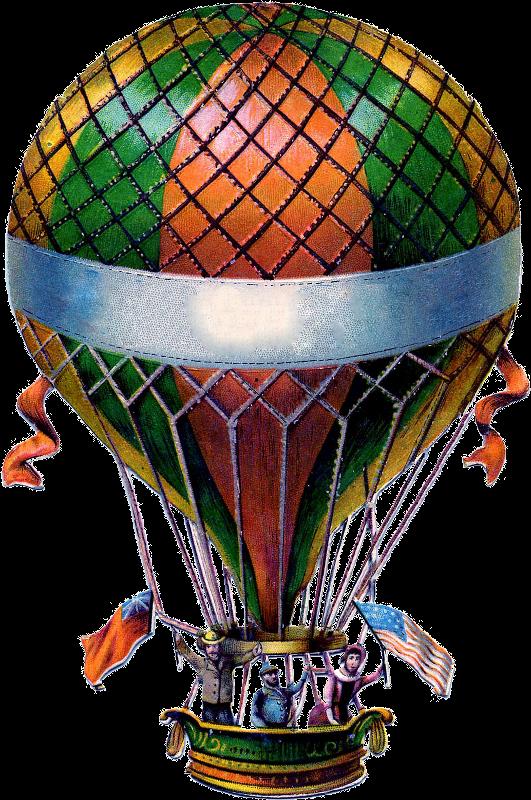 Steampunk clipart lightbulb. Balloon zibi vintage scrap
