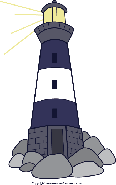 Lighthouse clipart. Moroccan red clip art