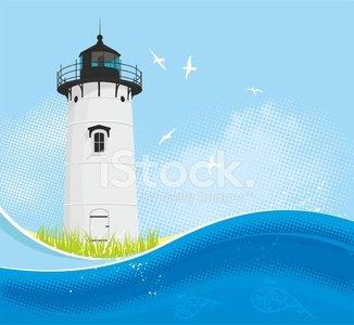 Summer premium clipartlogo com. Lighthouse clipart background