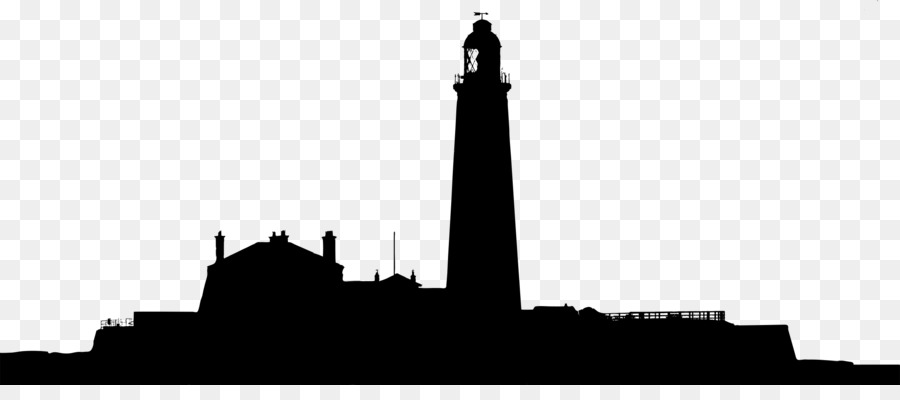 Lighthouse clipart landscape. Silhouette drawing clip art