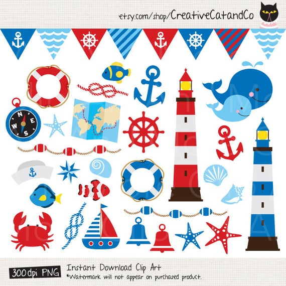 Lighthouse clipart nautical theme. Sailing anchor whale summer
