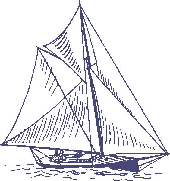 Waves clipart sailboat. Blue yacht clip art