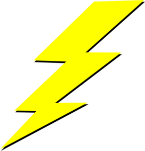 Lightning bolt clip art. Lighting clipart