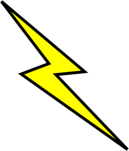 Lightning bolt clip art. Lighting clipart