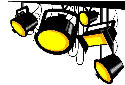 Lighting clipart. Stage lights clip art