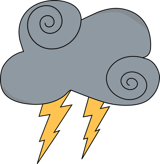 Lightning clipart cute. Swirly gray cloud with