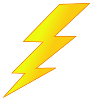 Graphic lighting bolt picture. Lightning clipart royalty free