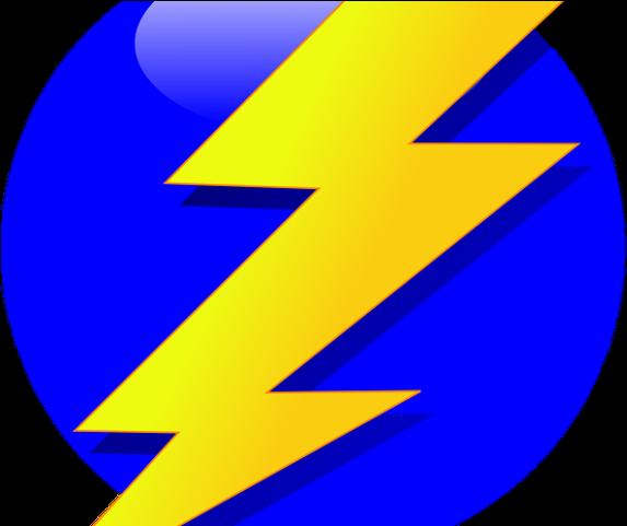 Lighting clipart lightning strike. Lightening yellow and blue