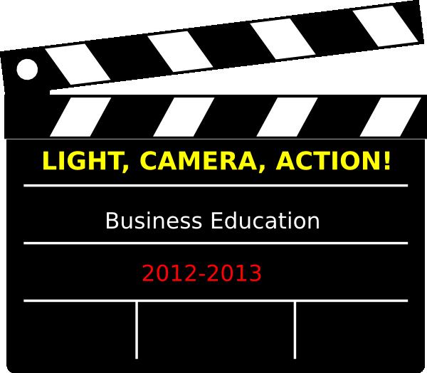 Lighting clipart lights camera action. Bulletin board business clip